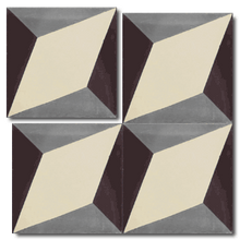 geometric black / grey / white concrete tile - Handmade Tiles // Margate