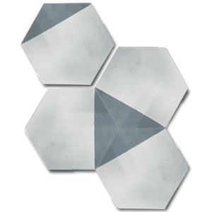 contemporary grey / off white hexagonal concrete tile - Handmade Tiles // Margate