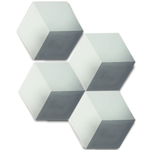 geometric grey / white hexagonal concrete tile - Handmade Tiles // Margate