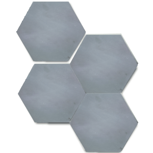 single colour grey hexagonal concrete tile - Handmade Tiles // Margate