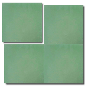 single colour green concrete tile - Handmade Tiles // Margate