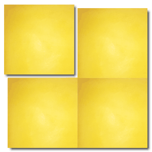 single colour yellow concrete tile - Handmade Tiles // Margate
