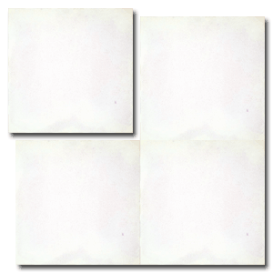 single colour white concrete tile - Handmade Tiles // Margate