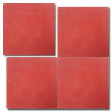 single colour bright red concrete tile - Handmade Tiles // Margate