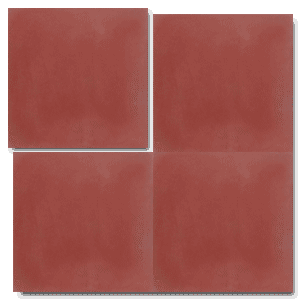 single colour dark red concrete tile - Handmade Tiles // Margate