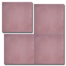 single colour dark pink concrete tile - Handmade Tiles // Margate
