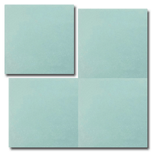 single colour turquoise concrete tile - Handmade Tiles // Margate