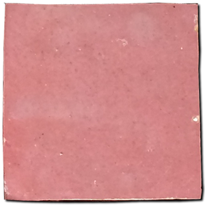 no.10 blush pink glazed terracotta tile - IN STOCK - Handmade Tiles // Margate
