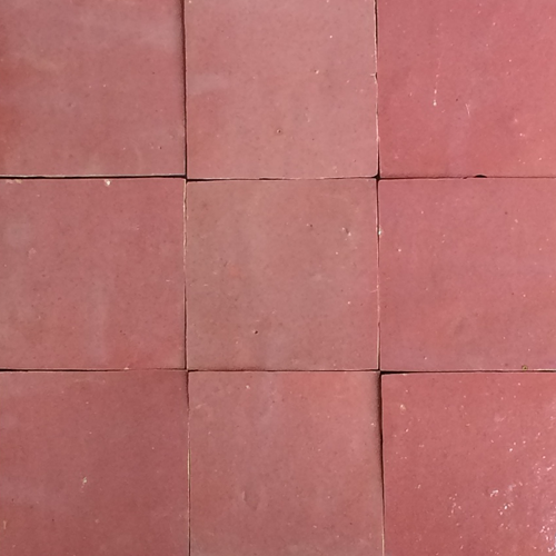no.10 light pink glazed terracotta tile - Handmade Tiles // Margate