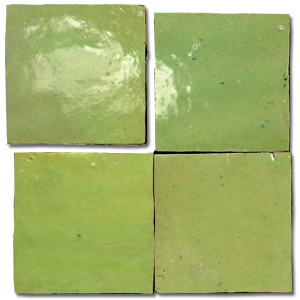 no.13 green glazed terracotta tile - IN STOCK - Handmade Tiles // Margate