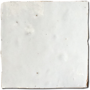 no.1 white glazed terracotta tile - Handmade Tiles // Margate