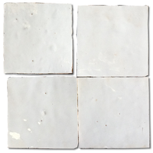 no.1 white glazed terracotta tile - IN STOCK - Handmade Tiles // Margate