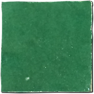 no.14 dark green glazed terracotta tile - Handmade Tiles // Margate
