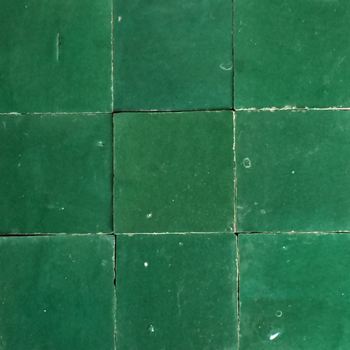 no.14 dark green glazed terracotta tile - IN STOCK - Handmade Tiles // Margate