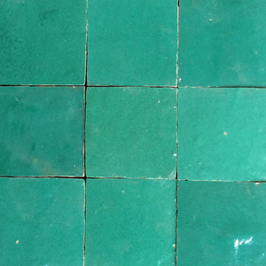 no.15 aqua green / blue glazed terracotta tile - Handmade Tiles // Margate
