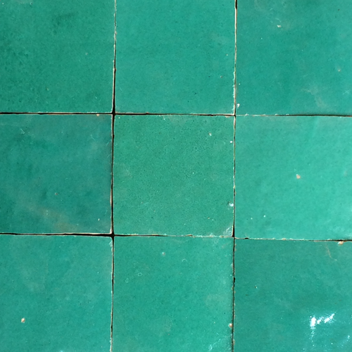 no.15 light green glazed terracotta tile - IN STOCK - Handmade Tiles // Margate