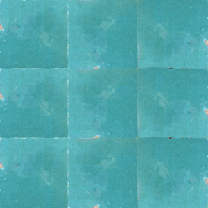 no.16 blue / green glazed terracotta tile - Handmade Tiles // Margate