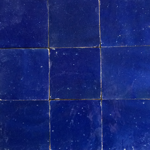 no.20 dark blue glazed terracotta tile - IN STOCK - Handmade Tiles // Margate