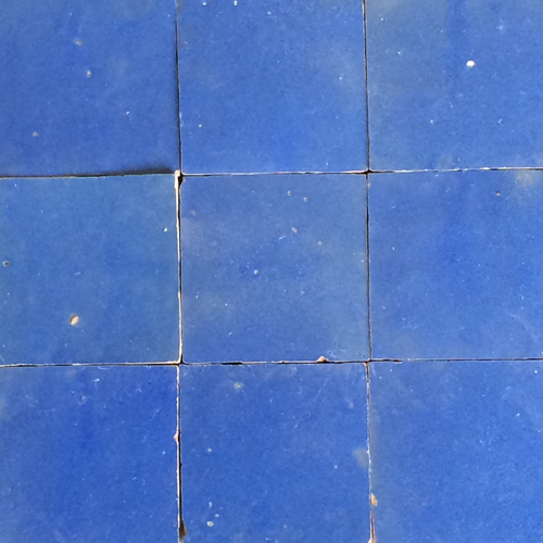 no.21 blue glazed terracotta tile - Handmade Tiles // Margate