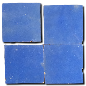 no.21 blue glazed terracotta tile - IN STOCK - Handmade Tiles // Margate