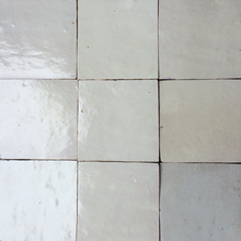 no.2 off white glazed terracotta tile - IN STOCK - Handmade Tiles // Margate