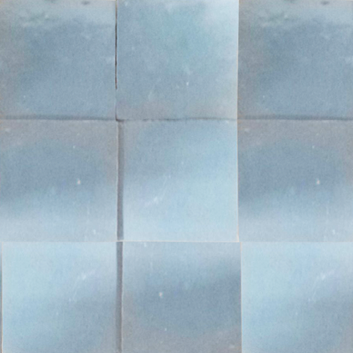 no.23 light blue glazed terracotta tile - Handmade Tiles // Margate