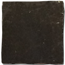 no.28 black glazed terracotta tile - IN STOCK - Handmade Tiles // Margate