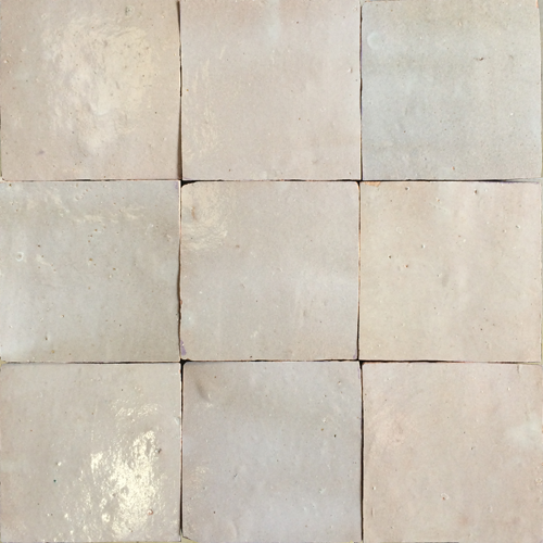 no.4 dark cream glazed terracotta tile - IN STOCK - Handmade Tiles // Margate
