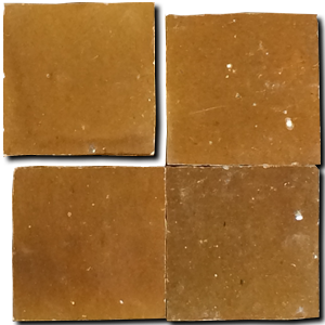 no.6 coffee colour glazed terracotta tile - Handmade Tiles // Margate