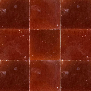 no.7 red / brown glazed terracotta tile