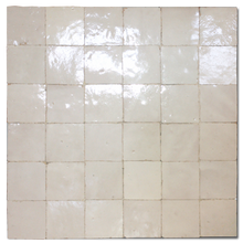 30x30cm off white (no.2) glazed terracotta panel - Handmade Tiles // Margate
