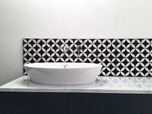 contemporary Moroccan black / white concrete tile - Handmade Tiles // Margate