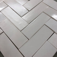 satin matte white glaze skinny metro tile - Margate Tile Works