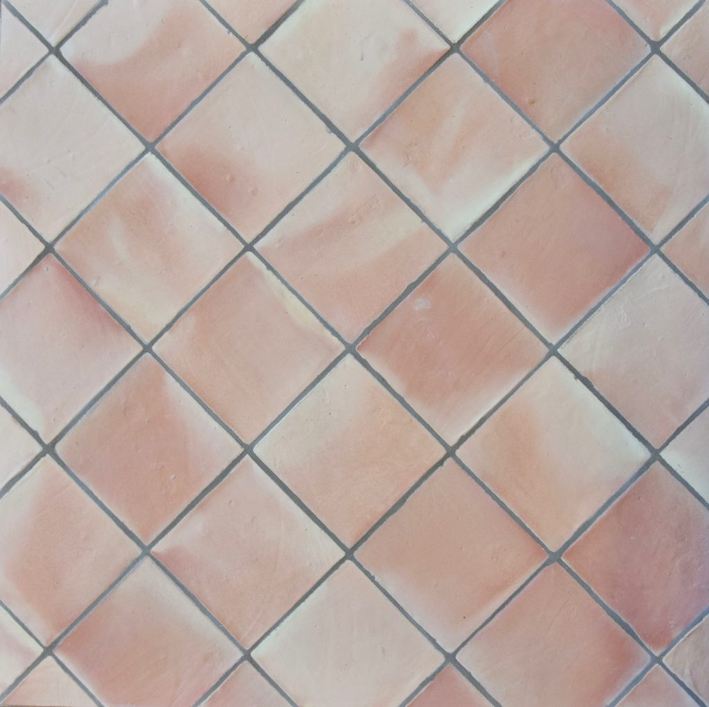 natural terracotta square tile - IN STOCK - Handmade Tiles // Margate