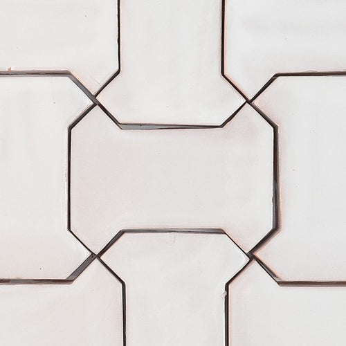 bone - shaped glazed ceramic tile - Handmade Tiles // Margate