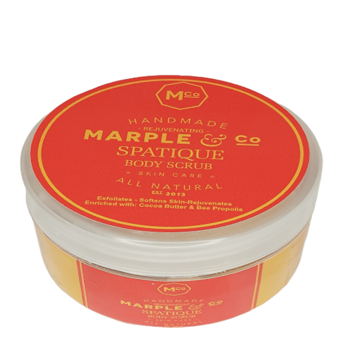 Spatique Body Scrub to Soften and Rejuvenate Skin with Magnesium and Coco Butter, 250ml - Marple & Co Store