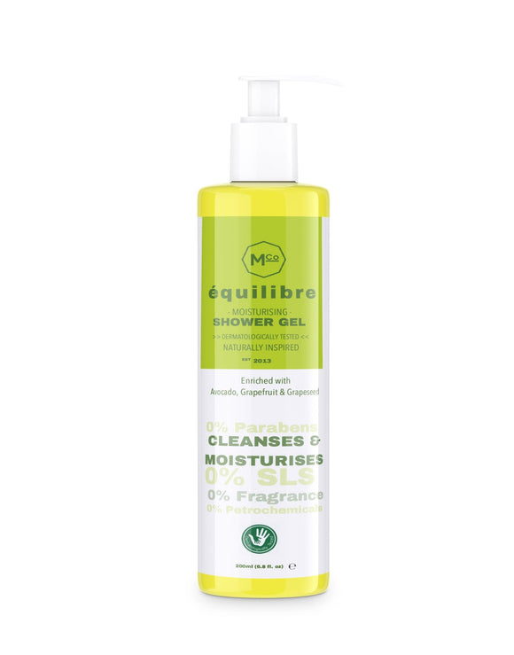 équilibré Natural Fragrance-Free Shower Gel for Sensitive Skin - Dermatologically Tested - Marple & Co Store