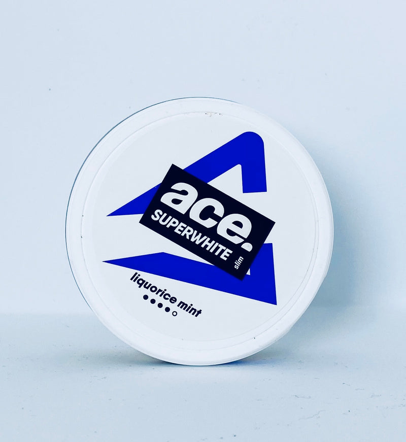 Ace Superwhite - Lakris Mint (Slim White Portion) - Styrke 4/5