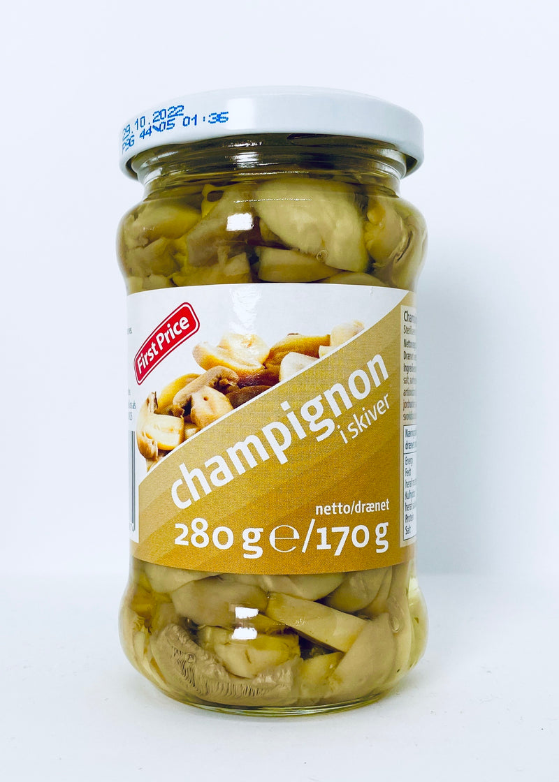 Champignon i skiver 280g/170g - First Price