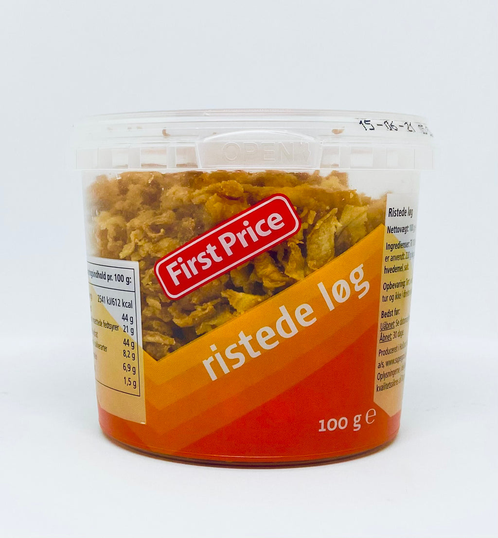 Løg Ristede 100g - First Price