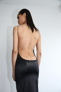 """ADMIRAL MONT"" rhinestone backless dress"