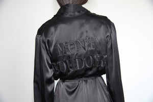 "'BLACK HEIRESS"" robe dress"
