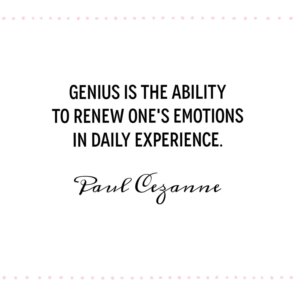 Famous artist quotes Paul Cezanne quotes to inspire consistency in your creativity / deliciousdesignhouse.com