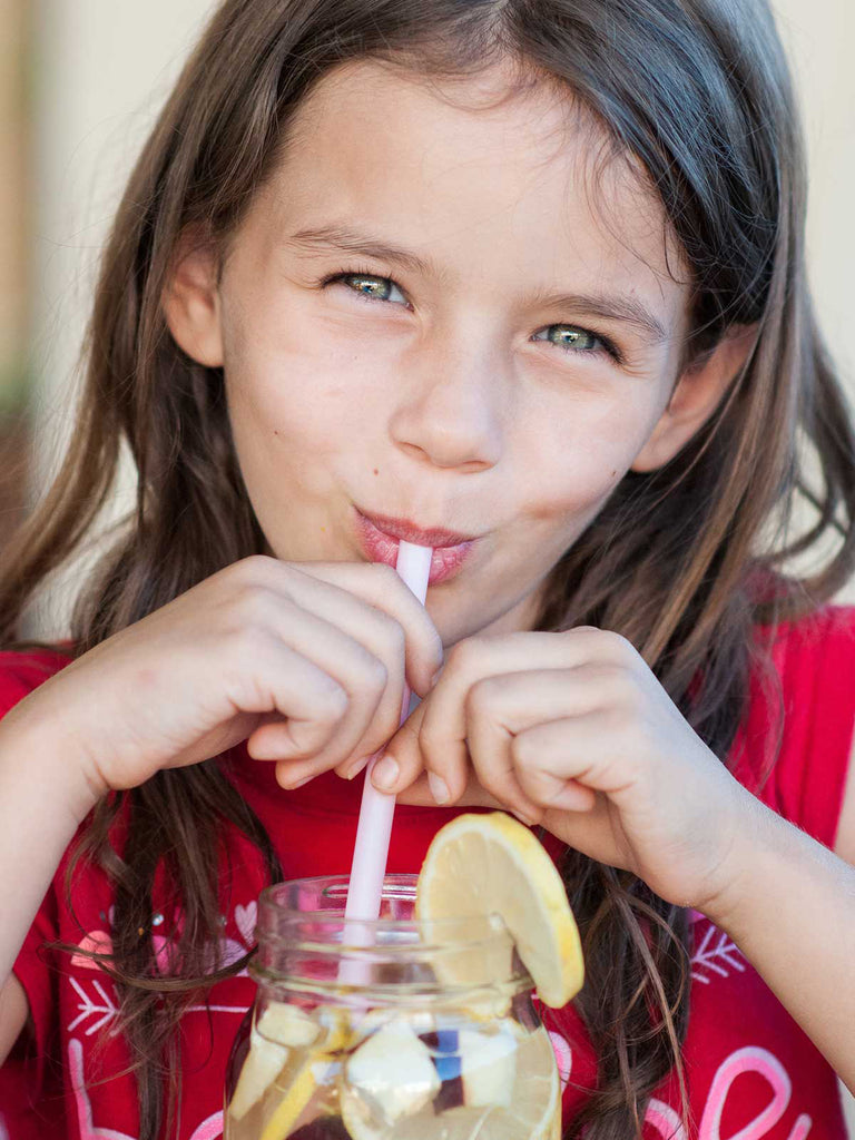 Water Recipes Get Kids in on creating a water habit // deliciousdesignhouse.com