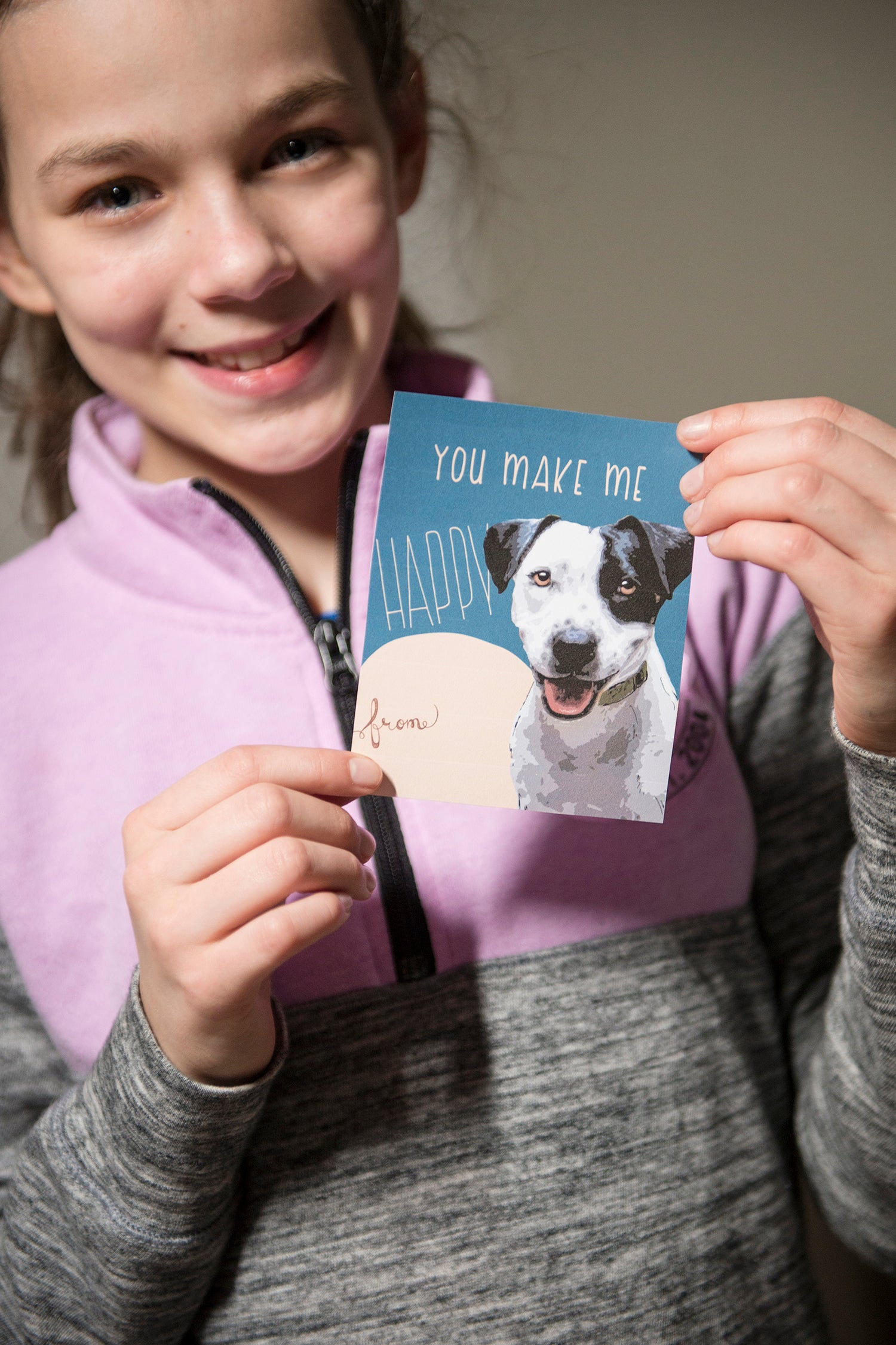 Free Dog Valentines to cut and print for your little one's Valentines Day celebrations! // deliciousdesignhouse.com