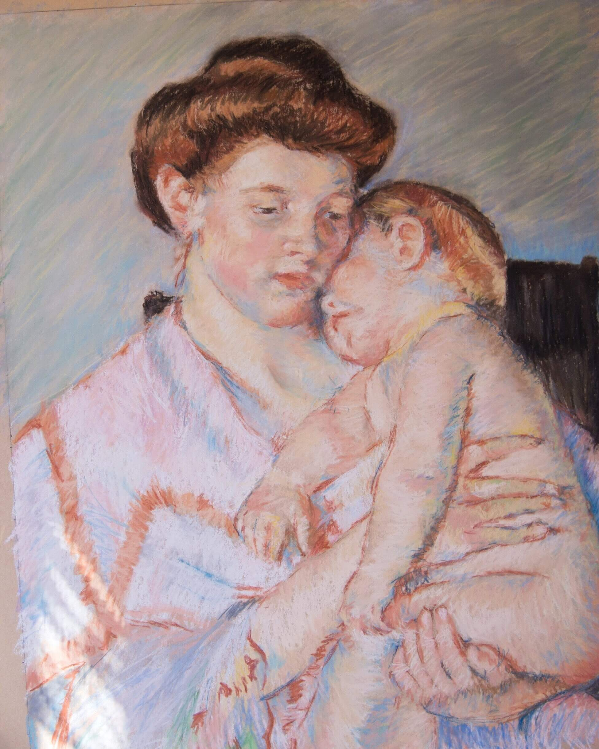 """Tips for copying a famous masterpiece painting — here is my version of Mary Cassatt's """"Sleepy Baby"""""""