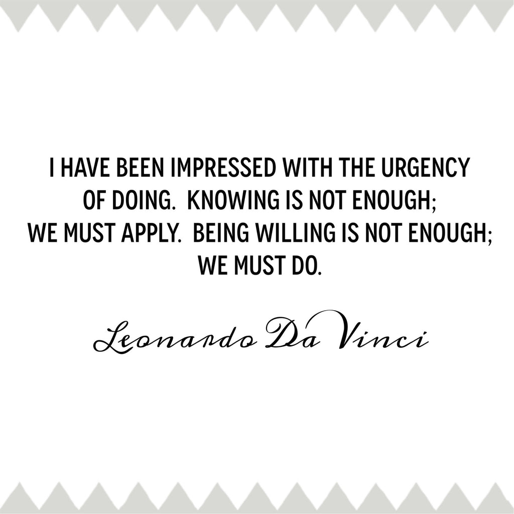 Famous artist quotes Leonardo Da Vinci quotes to inspire consistency in your creativity / deliciousdesignhouse.com