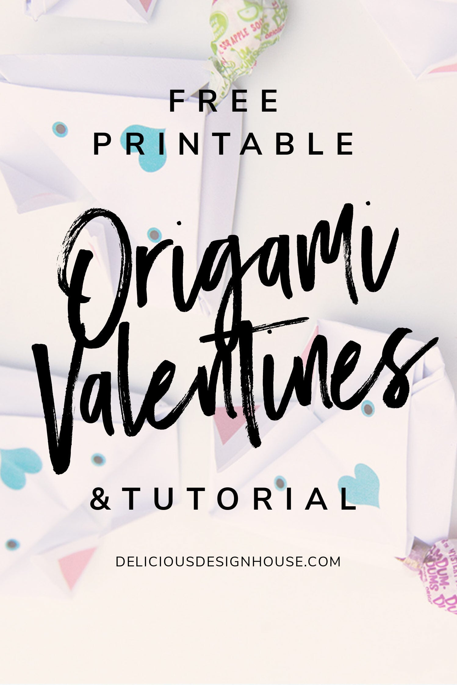 Origami Dog Valentines Easy Origami Kids Project for Valentine's Day