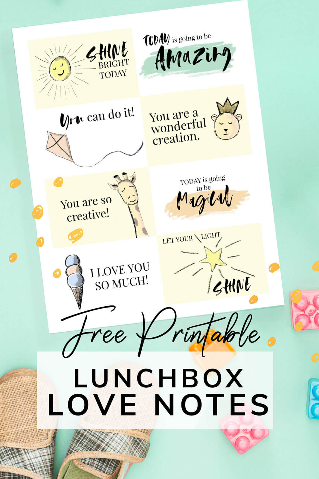 Free Lunchbox Love Notes — Make their lunchbox special for school!