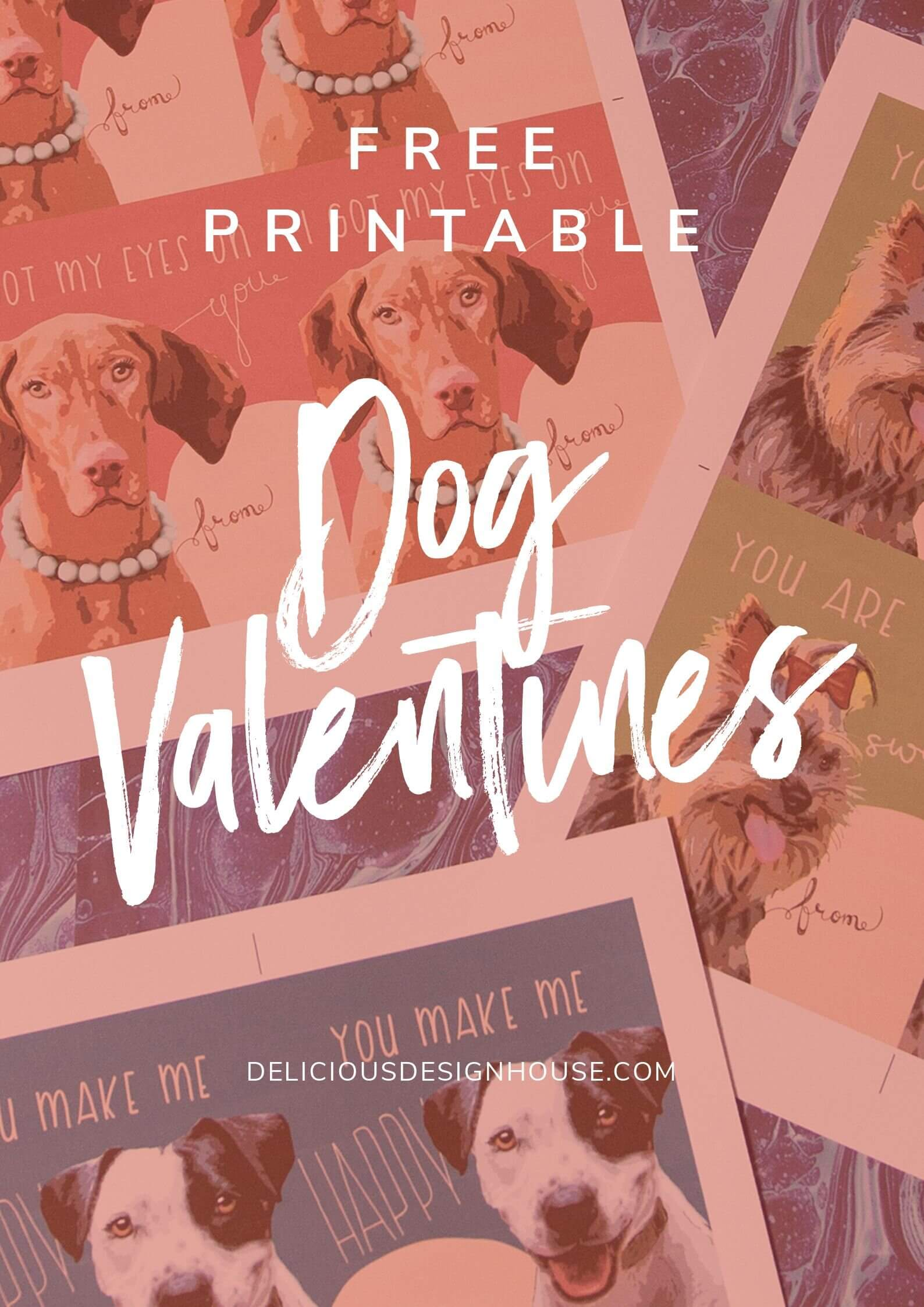 Free Printable Dog Valentines Day Cards
